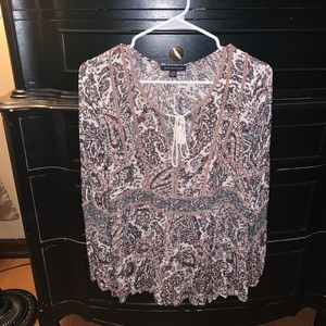American Eagle Bell Sleeved Blouse